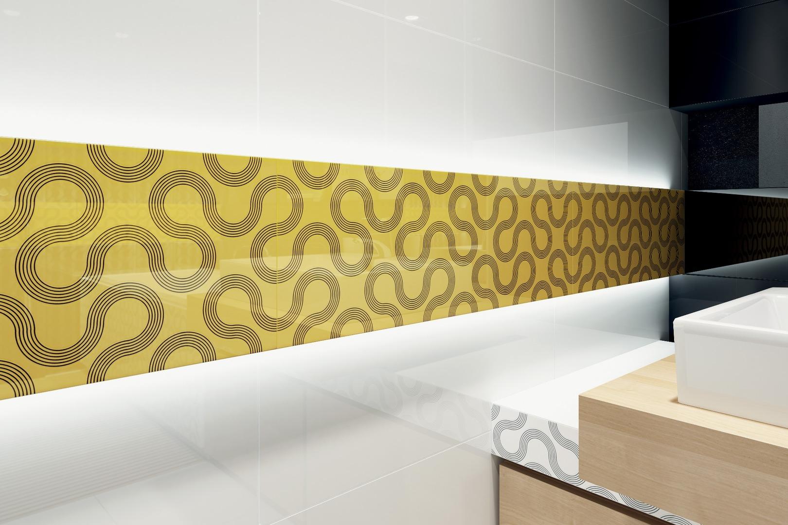 Yellow ceramic tiles